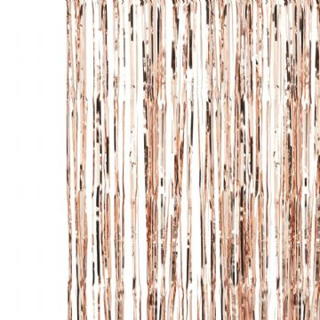 Rose Gold Fringe Curtain Backdrop